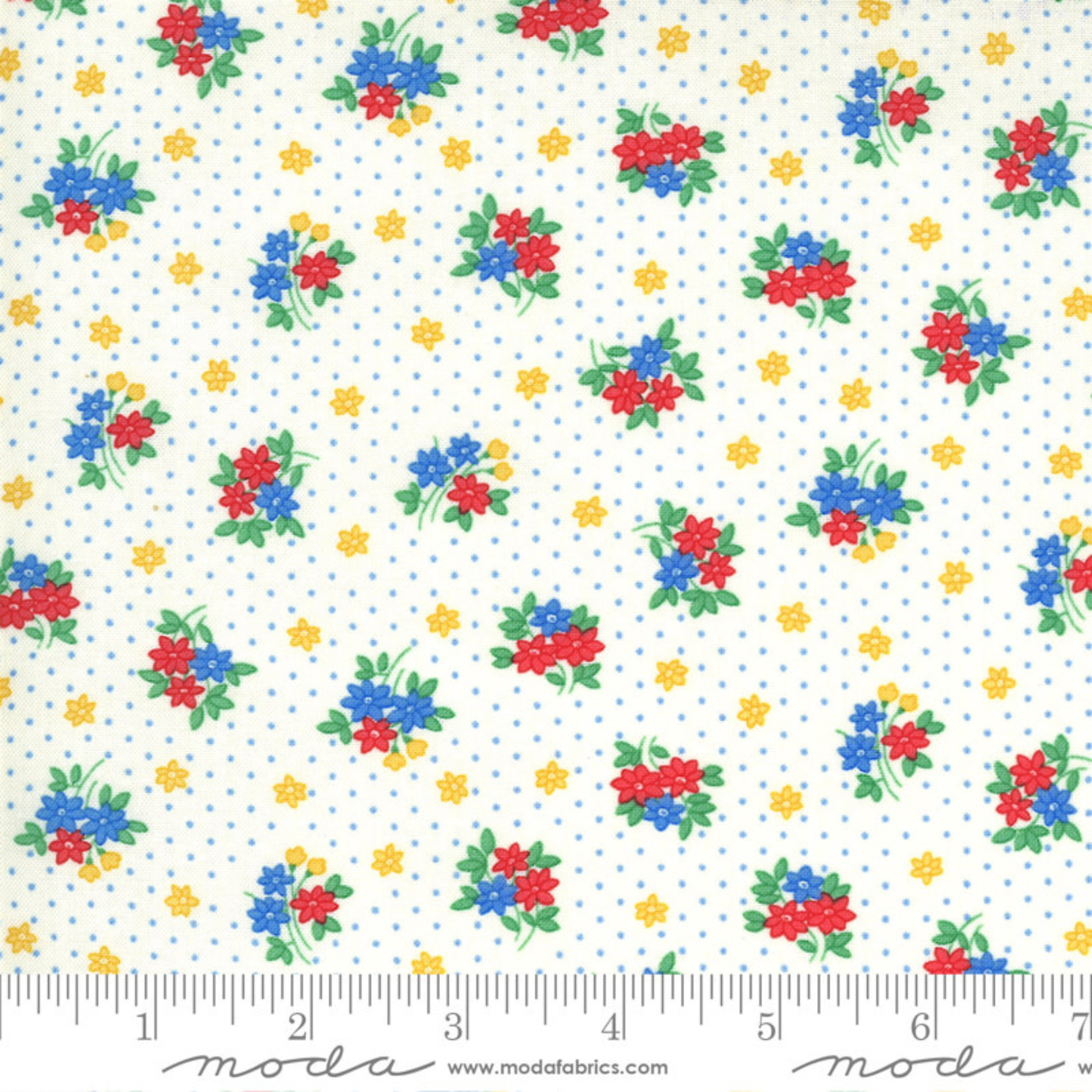 Chloe's Closet 30s Playtime, Bouquet Toss Floral, Eggshell 33595-11 $0.20 per cm or $20/m