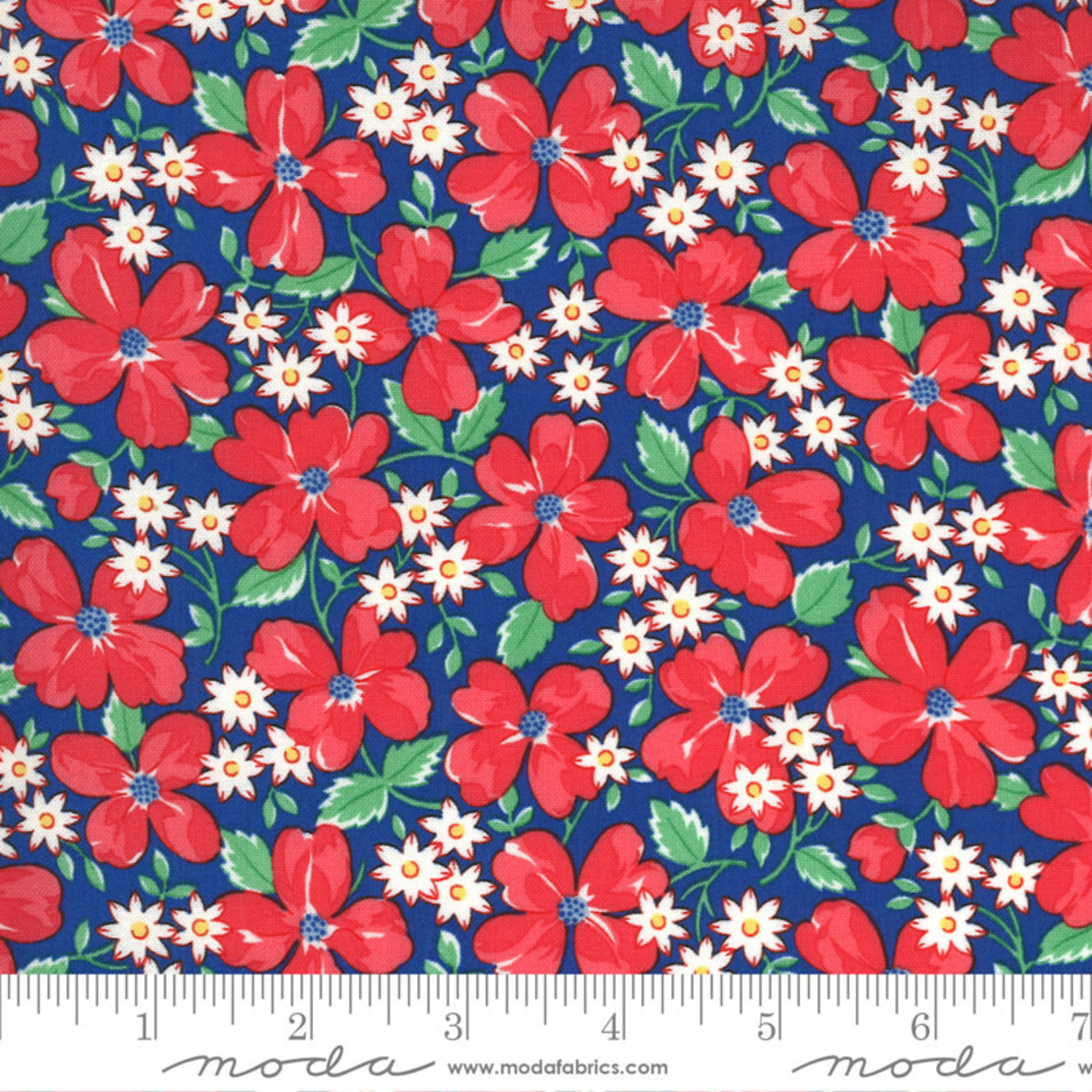 Chloe's Closet 30s Playtime, Garden Party Floral, Bluebell 33590-17 $0.20 per cm or $20/m