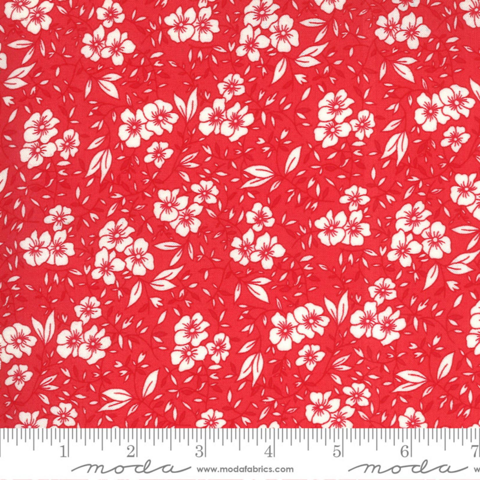 Chloe's Closet 30s Playtime, Friendly Blooms Flora, Scarlet 33592-28 $0.20 per cm or $20/m