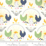 Sweetfire Road Break of Day, Greet The Day Novelty Chickens, Ivory 43100-11 $0.20 per cm or $20/m