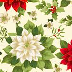 Benartex Joyous Garden 108 Wide, Cream Multi $0.34 per cm or $34/m