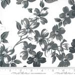 Bonnie & Camille Sunday Stroll, Full Bloom, White Grey 55220 27$0.20 per cm or $20/m