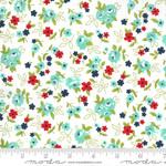 Bonnie & Camille Sunday Stroll, Little Floral, White Aqua 55222 11 $0.20 per cm or $20/m