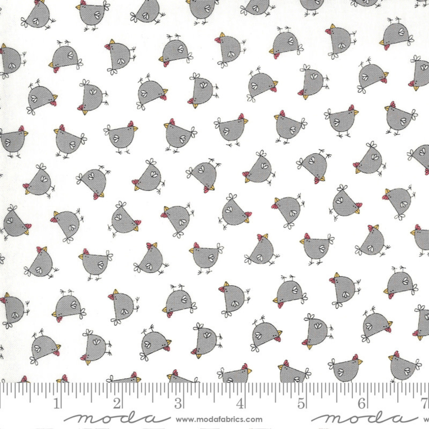 Sweetwater Spring Chicken, Cluck, Cream Grey 55521-26 $0.20 per cm or $20/m