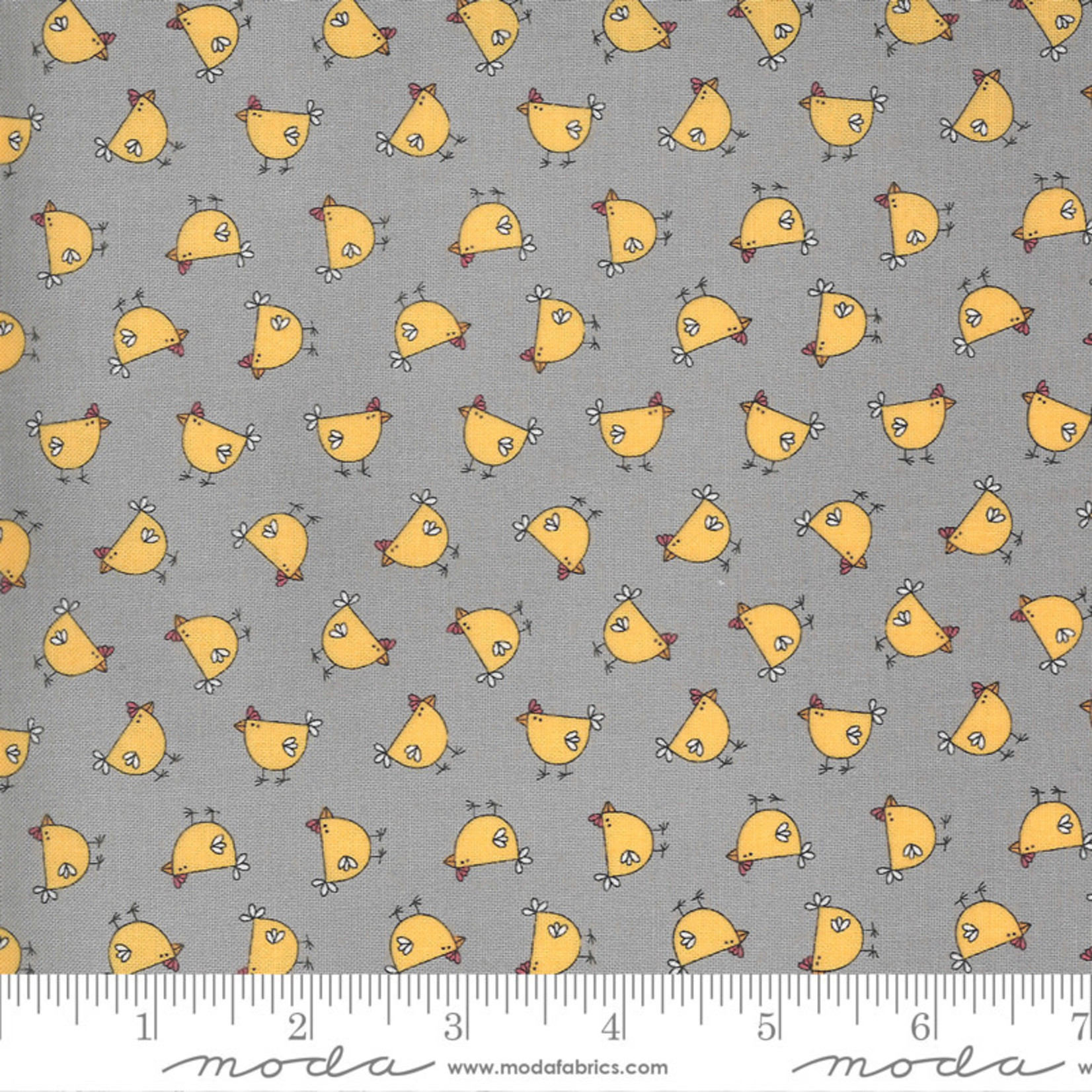 Sweetwater Spring Chicken, Cluck, Grey 55521-16 $0.20 per cm or $20/m