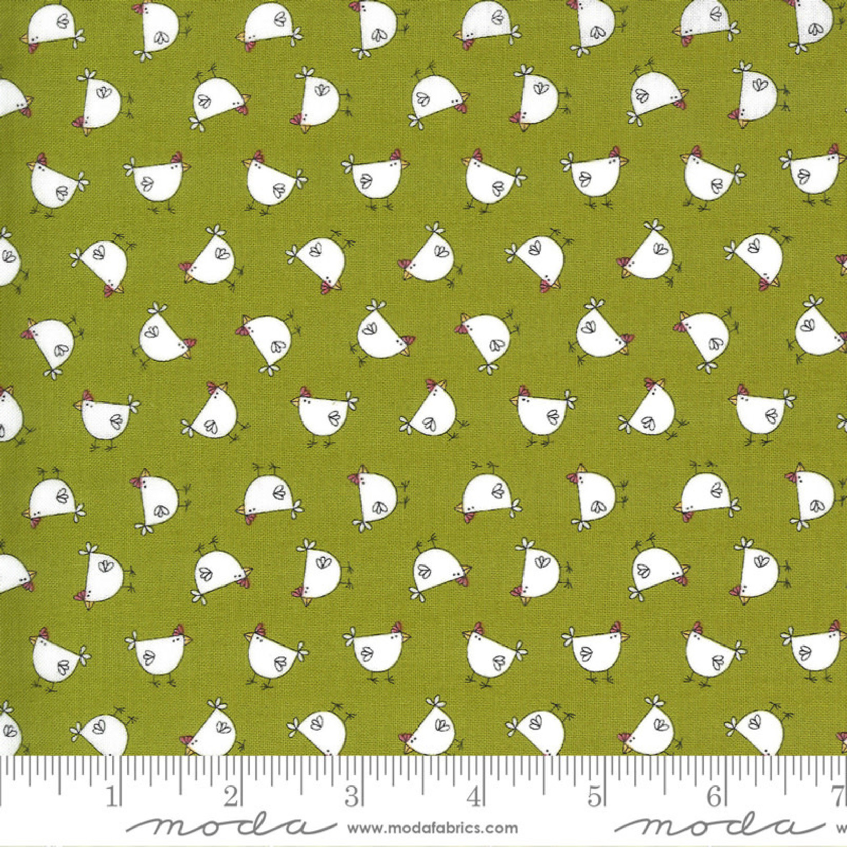 Sweetwater Spring Chicken, Cluck, Green 55521-13 $0.20 per cm or $20/m