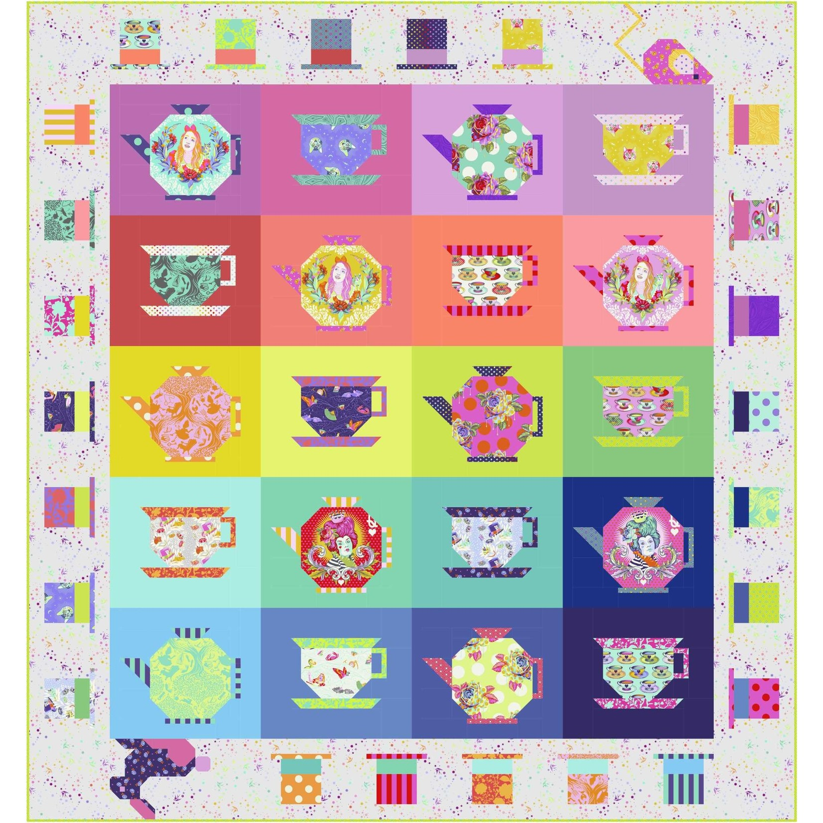 Tula Pink Mad Hatter Tea Party Quilt Kit