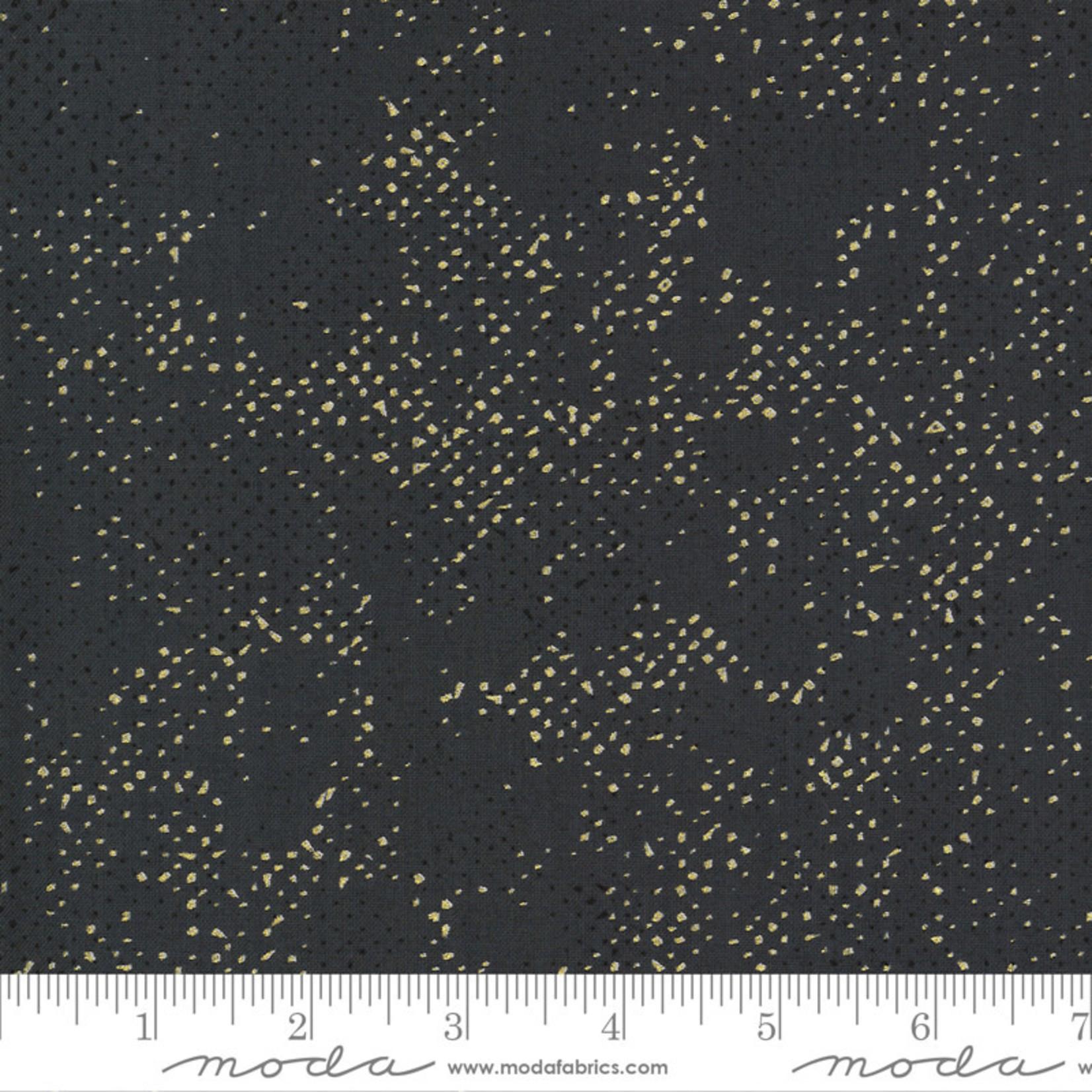 Zen Chic Dance in Paris, Dots Spotted, Coal Metallic (1660 160M) $0.21 per cm or $21/m