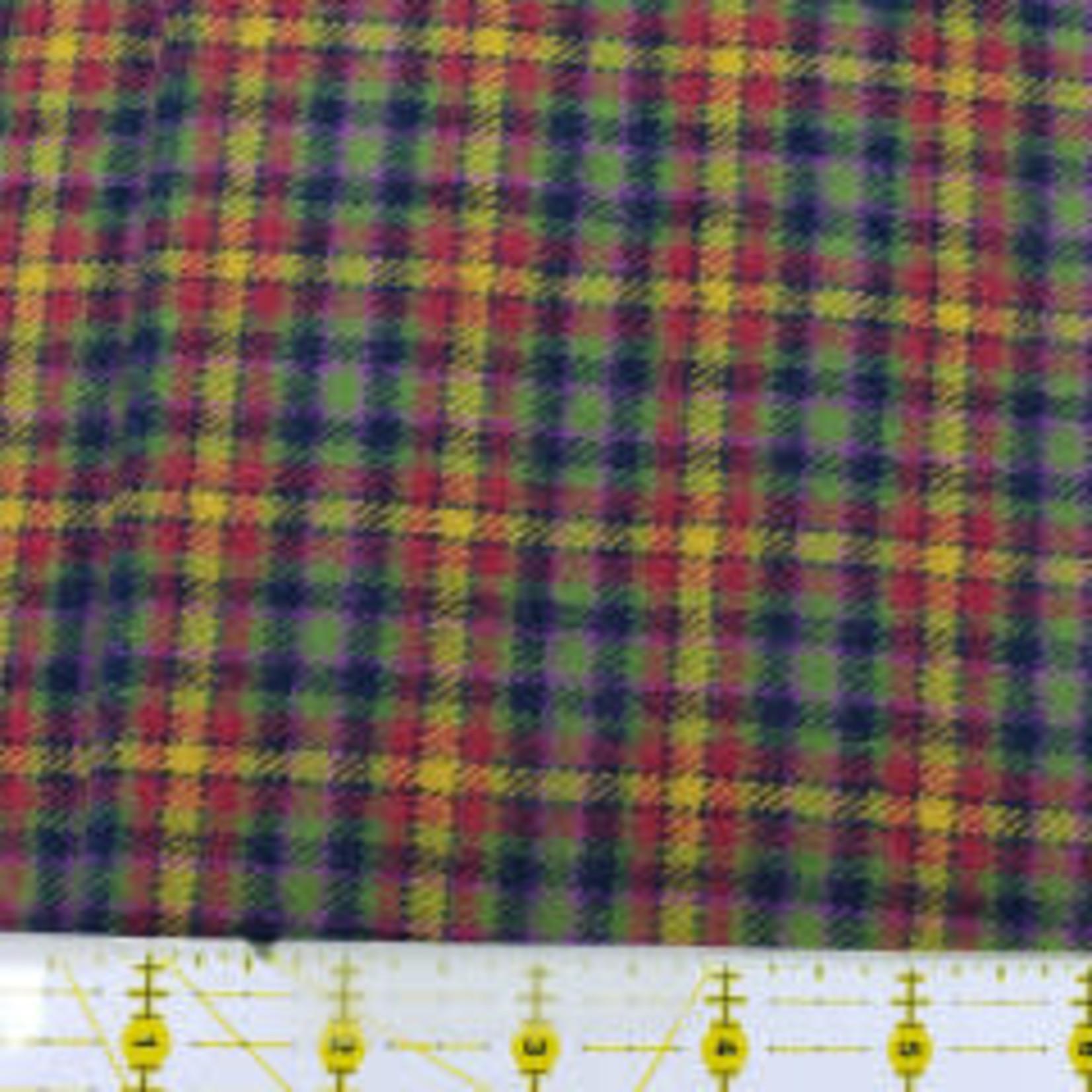 Marcus Fabrics 100cm Primo Flannel Plaids (Maple Lake), Red Green Yellow Black 111 - Per Cm or $16/m