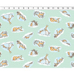 Clothworks Guess How Much I Love You, Tossed Scenes, Green (Y3081-101) 1 meter