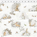 Clothworks Guess How Much I Love You, Scenes, White (Y3080-118) 1 meter