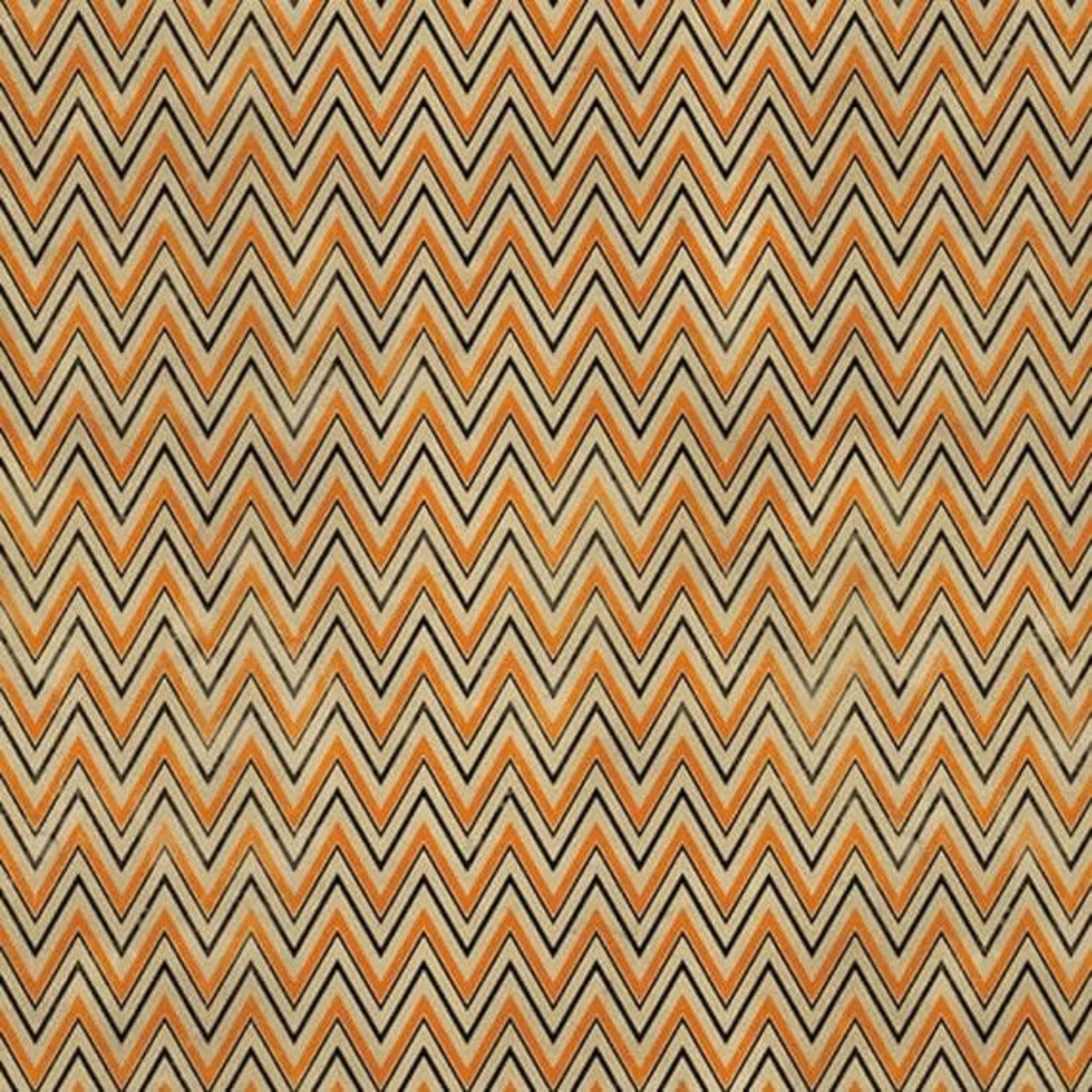 Tim Holtz Zig Zag - Orange, per cm or $16/m