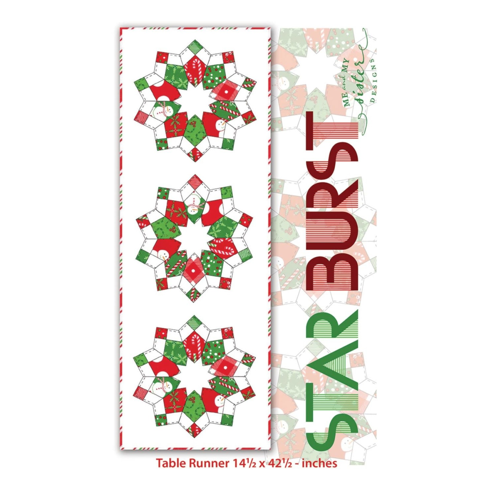 Me and My Sister Designs Starburst Table Runner with 4 patch template