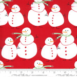 Me and My Sister Designs Merry and Bright, Merry Snowmen, Poinsettia Red 22400 11$0.20 per cm or $20/m