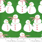 Me and My Sister Designs Merry and Bright, Merry Snowmen, Ever Green 22400 12 $0.20 per cm or $20/m