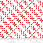 Me and My Sister Designs Merry and Bright, Merry Forest, White Red  22401 23 $0.20 per cm or $20/m