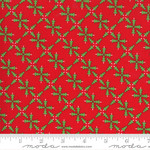 Me and My Sister Designs Merry and Bright, Merry Forest, Poinsettia Red 22401 11 $0.20 per cm or $20/m