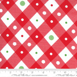 Me and My Sister Designs Merry and Bright, Merry Plaid, Poinsettia Red  22404 11 $0.20 per cm or $20/m
