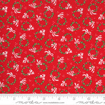 Me and My Sister Designs Merry and Bright, Merry Wreaths, Poinsettia Red 22403 11 $0.20 per cm or $20/m