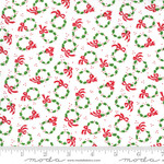 Me and My Sister Designs Merry and Bright, Merry Wreaths, Winter White 22403 13 $0.20 per cm or $20/m