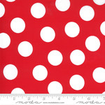 Me and My Sister Designs Merry and Bright, Merry Giant Dot, Poinsettia Red22405 11 $0.20 per cm or $20/m