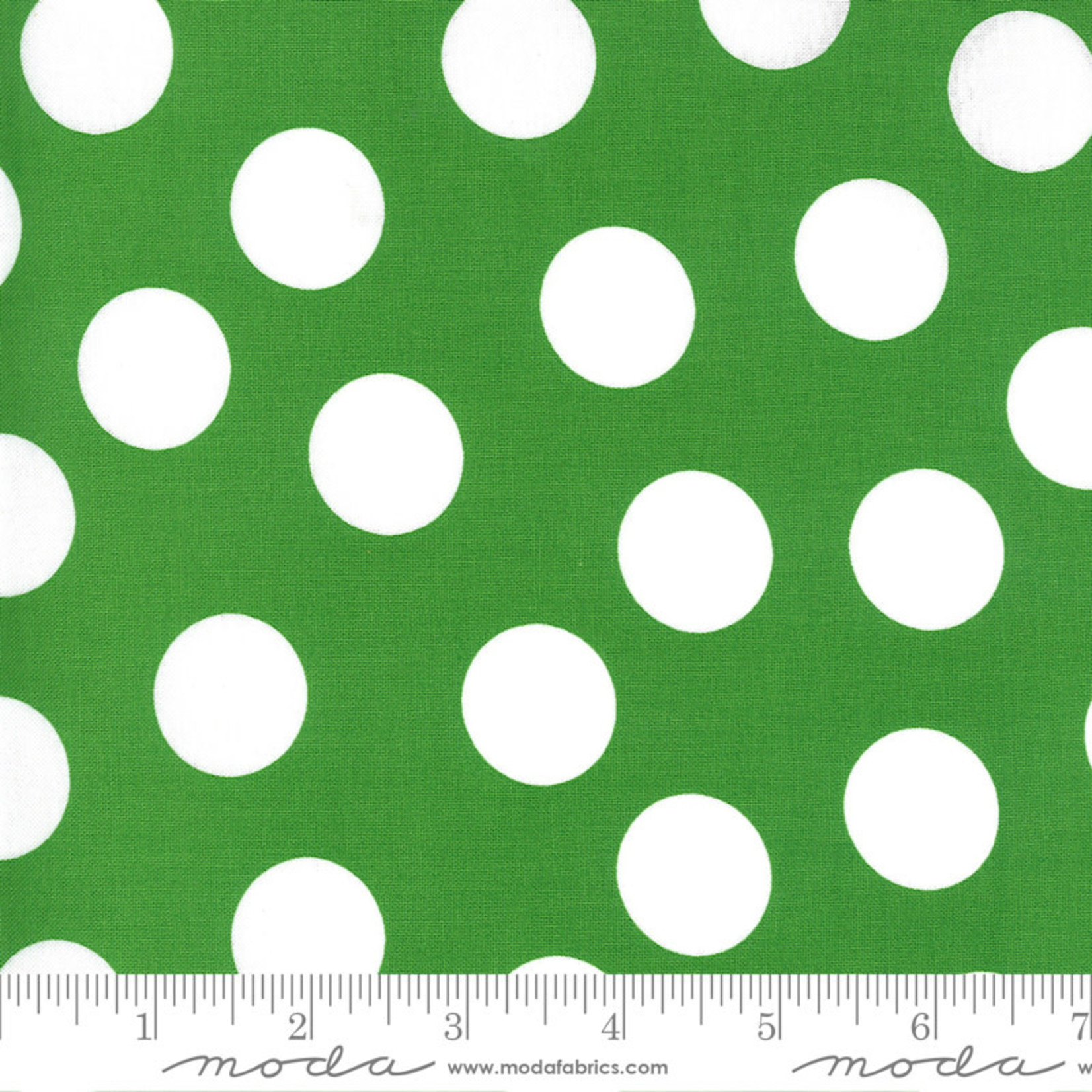 Me and My Sister Designs Merry and Bright, Merry Giant Dot,  Ever Green 22405 12 $0.20 per cm or $20/m