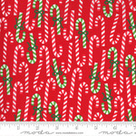 Me and My Sister Designs Merry and Bright, Merry Canes,  Poinsettia Red 22402 11 $0.20 per cm or $20/m