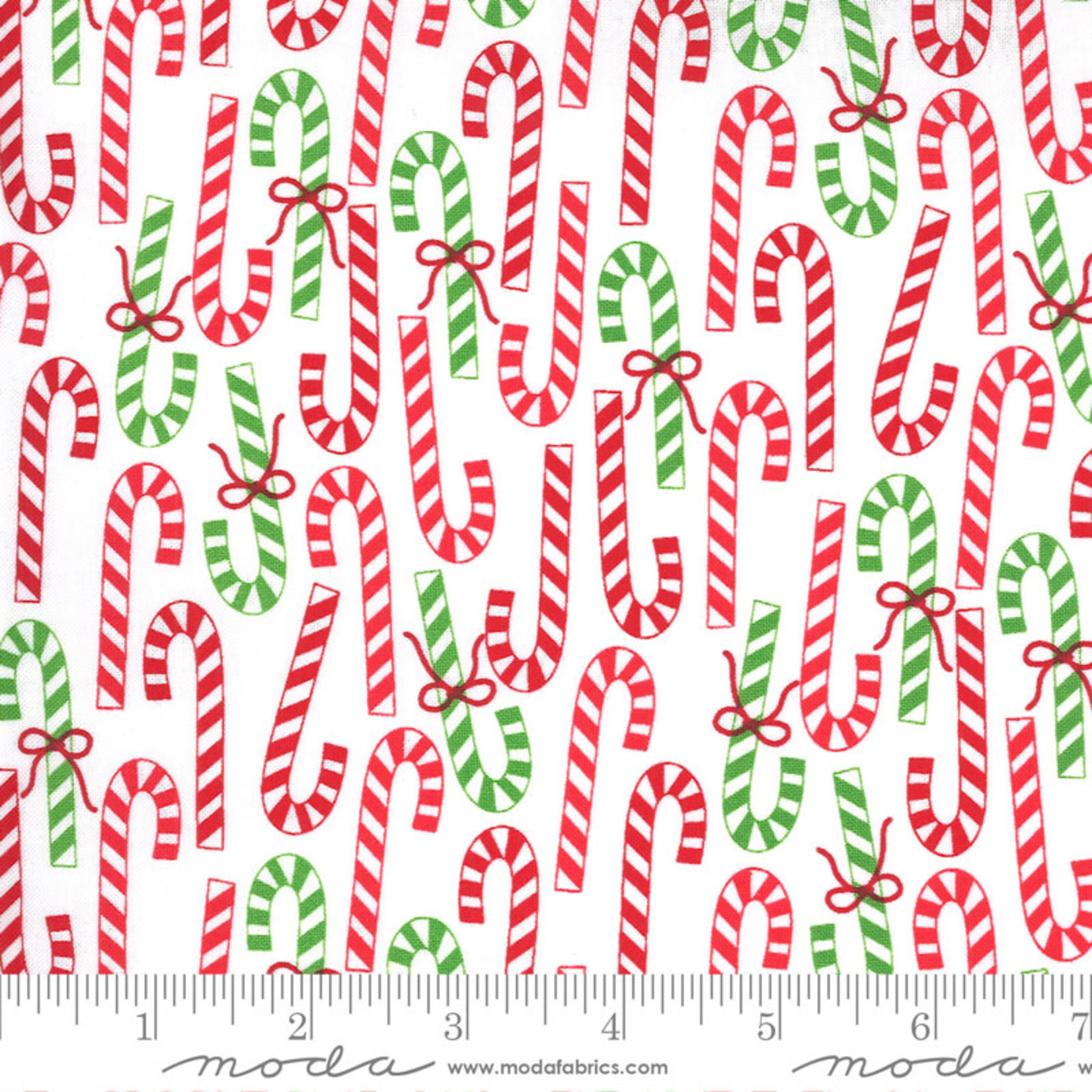Me and My Sister Designs Merry and Bright, Merry Canes,  Winter White 22402 13 $0.20 per cm or $20/m