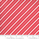 Me and My Sister Designs Merry and Bright, Merry Candy Stripe,  Poinsettia Red 22407 11 $0.20 per cm or $20/m
