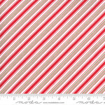 Me and My Sister Designs Merry and Bright, Merry Candy Stripe,  Red Green 22407 23 $0.20 per cm or $20/m