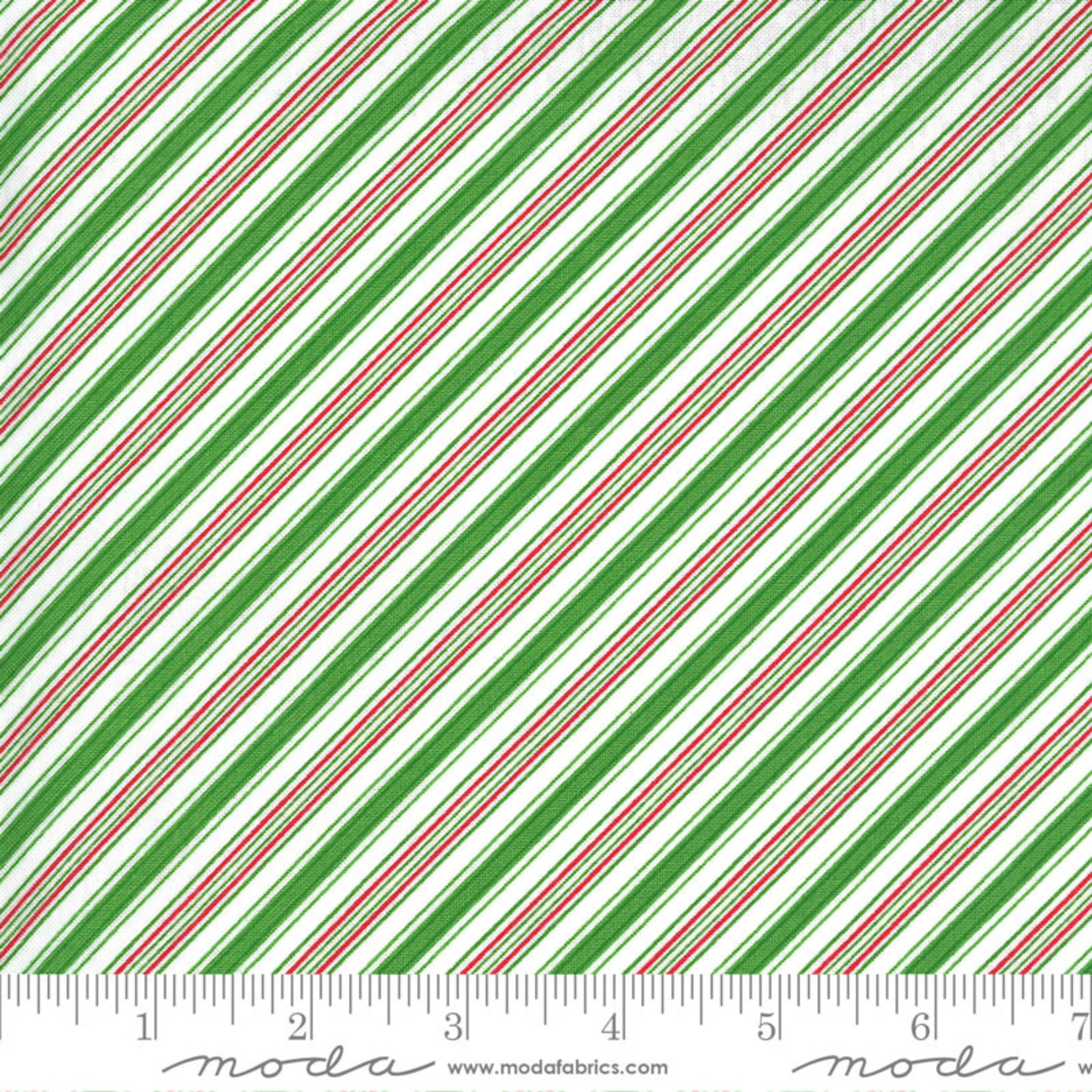 Me and My Sister Designs Merry and Bright, Merry Candy Stripe,  Ever Green 22407 13 $0.20 per cm or $20/m