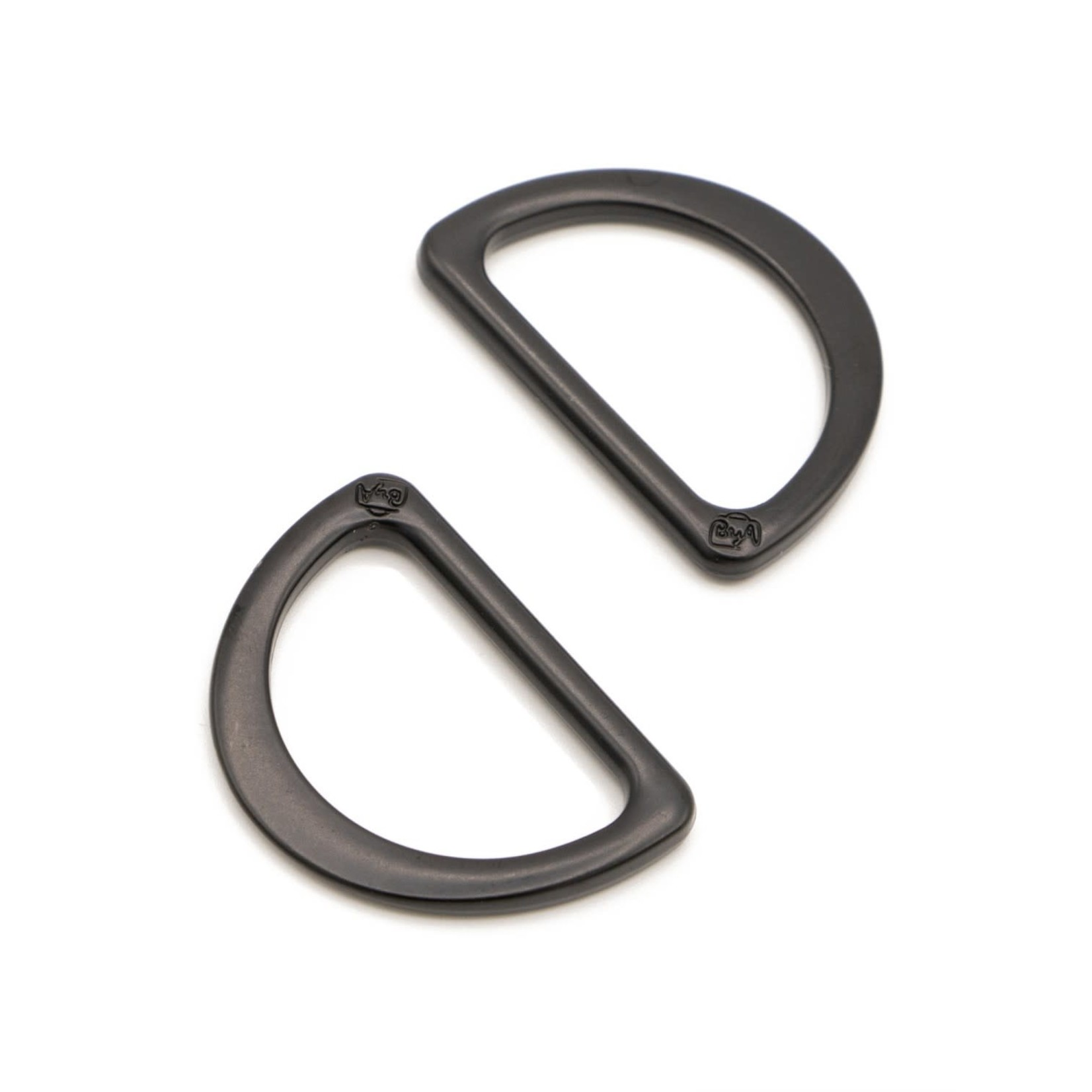 By Annie D Ring Flat 1in Black Metal Set of Two