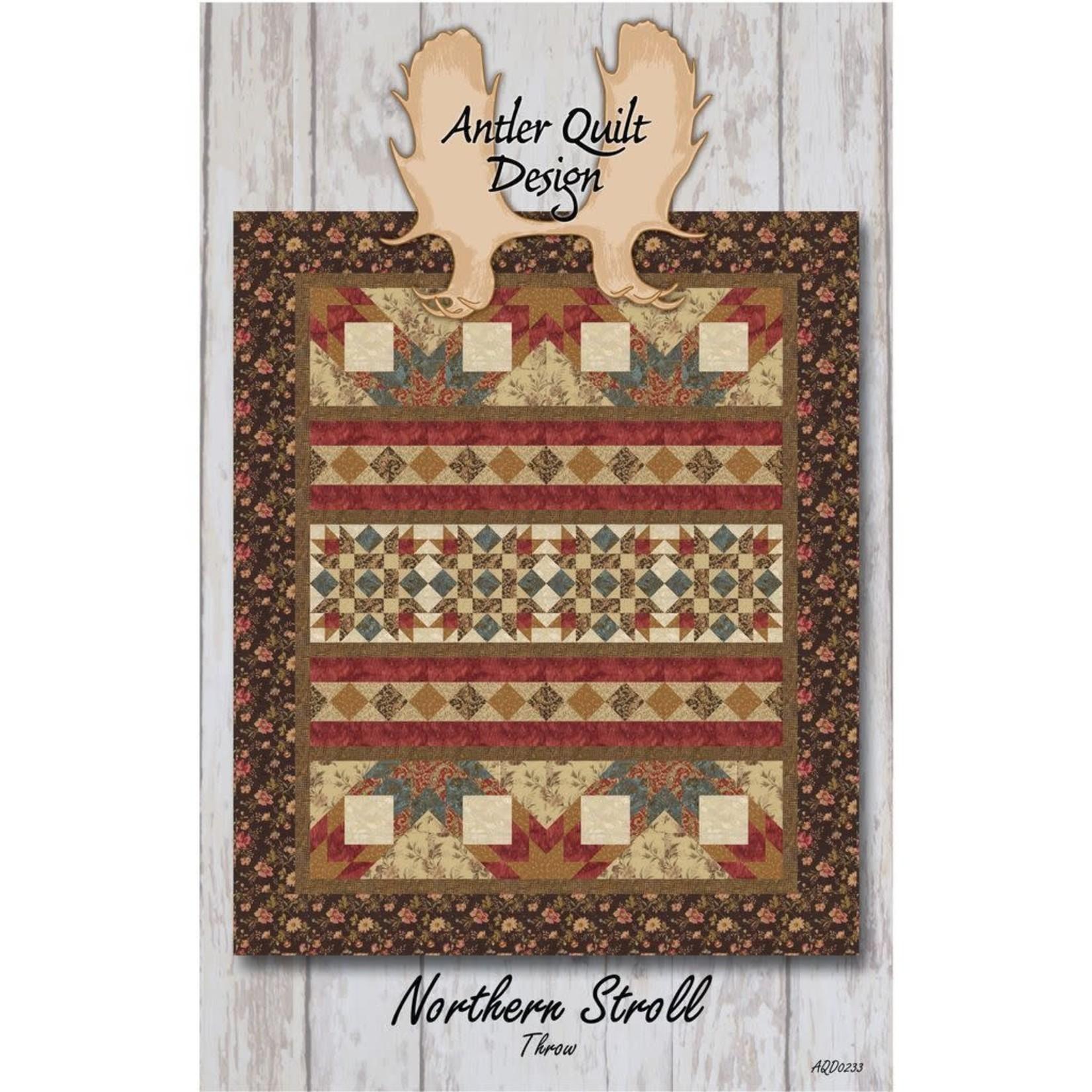 Antler Quilt Design Northern Stroll Throw Pattern