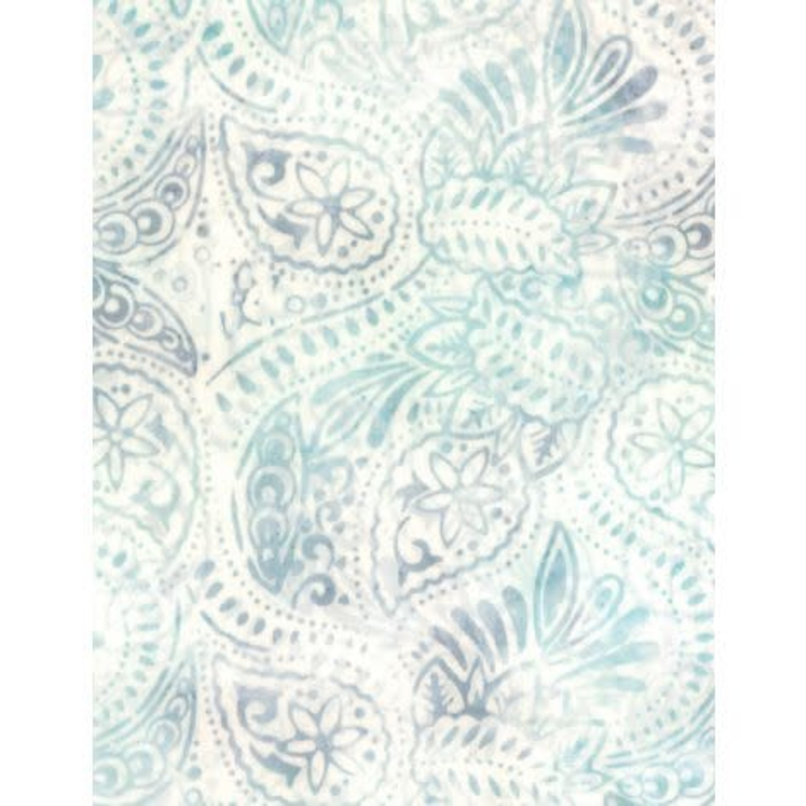Wilmington Prints Ribbon Candy, Packed Paisley Cream/Blue, Fabric A, Per Cm or $20/m