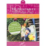 """Electric Quilt Company EQ PRINTABLES INKJET FABRIC SHEETS 8 1/2X 11"""" (25 SHEETS)"""