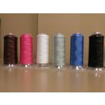 Marathon Stretch Polyester (Wooly) Thread 5,000 METRES White