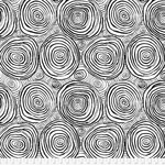 "Kaffe Fassett KF Collective - Onion Rings, Black 108"" Backing (QBBM001.BLACK) $0.32 per cm or $32/m"
