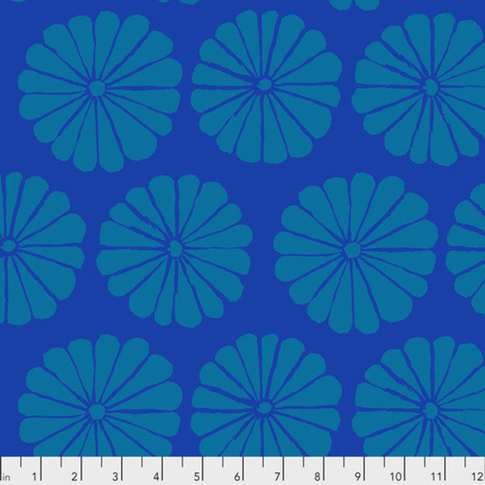 Kaffe Fassett KF Collective - Damask Flower, Blue (PWGP183.BLUE) $0.18 per cm or $18/m