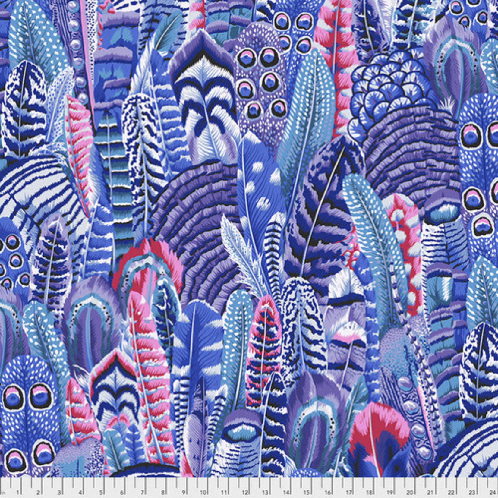 Kaffe Fassett KF Collective - Feathers, Cool (PWPJ055.COOL) $0.18 per cm or $18/m