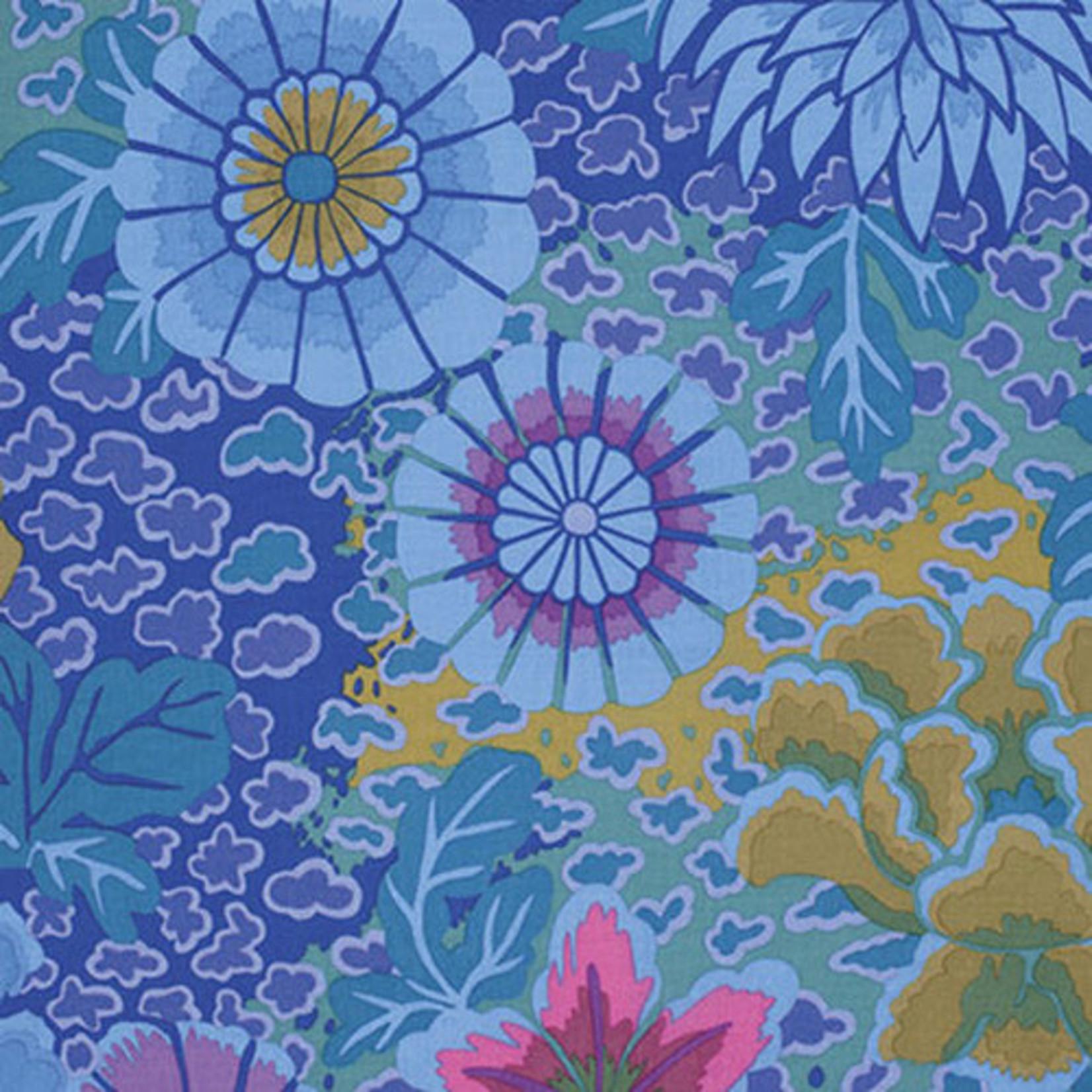 Kaffe Fassett KF Collective - Dream, Blue (PWGP148.BLUEX) $0.18 per cm or $18/m