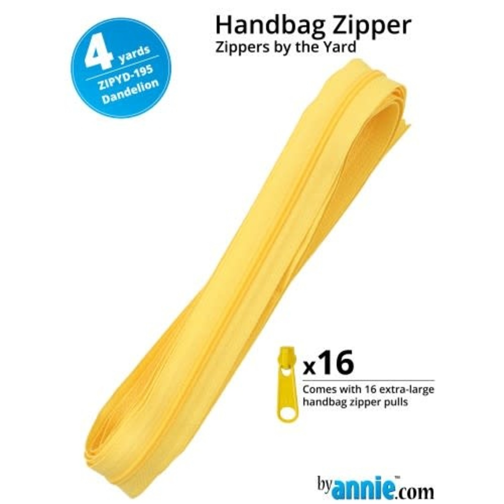By Annie Zipper by the Yard (includes 16 pulls) Green Yellow Orange