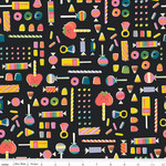 Riley Blake Designs Tiny Treaters, Retro Candy, Charcoal (C10482-CHARCOAL) $0.20 per cm or $20/m