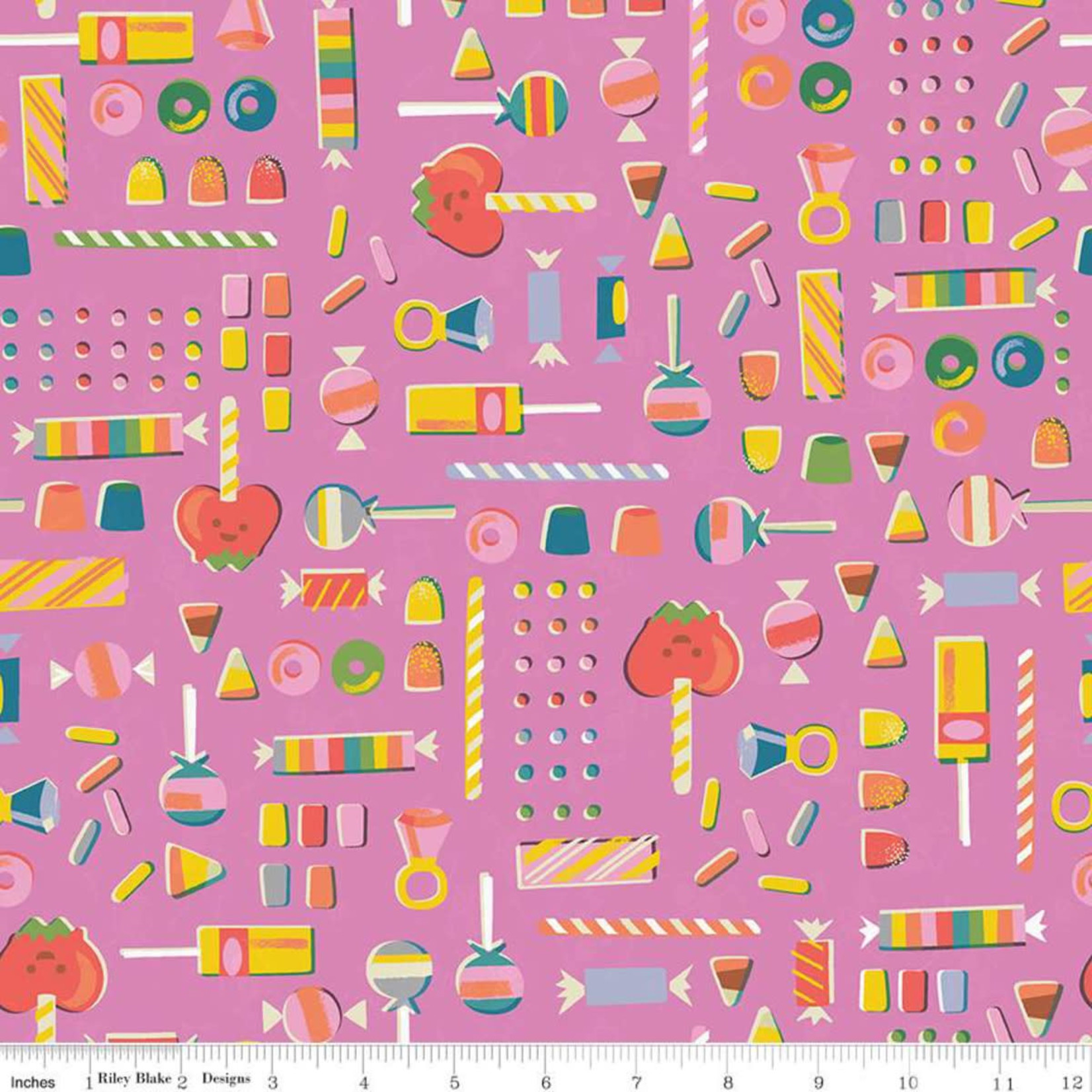 Riley Blake Designs Tiny Treaters, Retro Candy, Pink (C10482-PINK) $0.20 per cm or $20/m