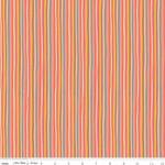 Riley Blake Designs Tiny Treaters, Stripe, Orange (C10486-ORANGE) $0.20 per cm or $20/m