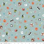 Riley Blake Designs Tiny Treaters, Toss, Gray (GC10481-GRAY) $0.20 per cm or $20/m