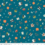 Riley Blake Designs Tiny Treaters, Toss, Teal (GC10481-TEAL) $0.20 per cm or $20/m