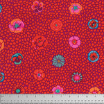 Kaffe Fassett 125cm.  KF Collective - Guinea Flower, Red (PWGP059.REDXX) $0.18 per cm or $18/m