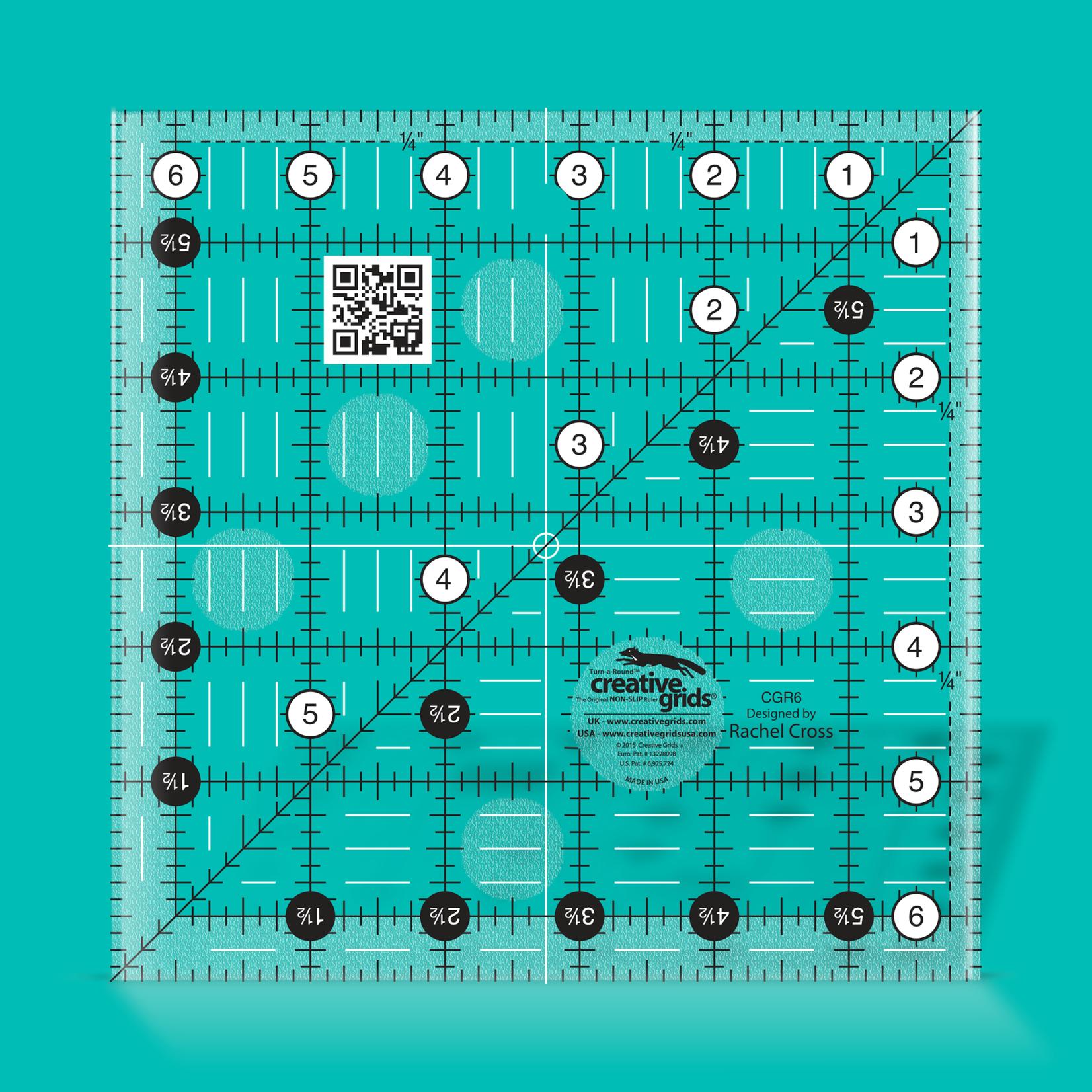 Creative Grids Creative Grids 6 1/2X6 1/2 Ruler CGR6