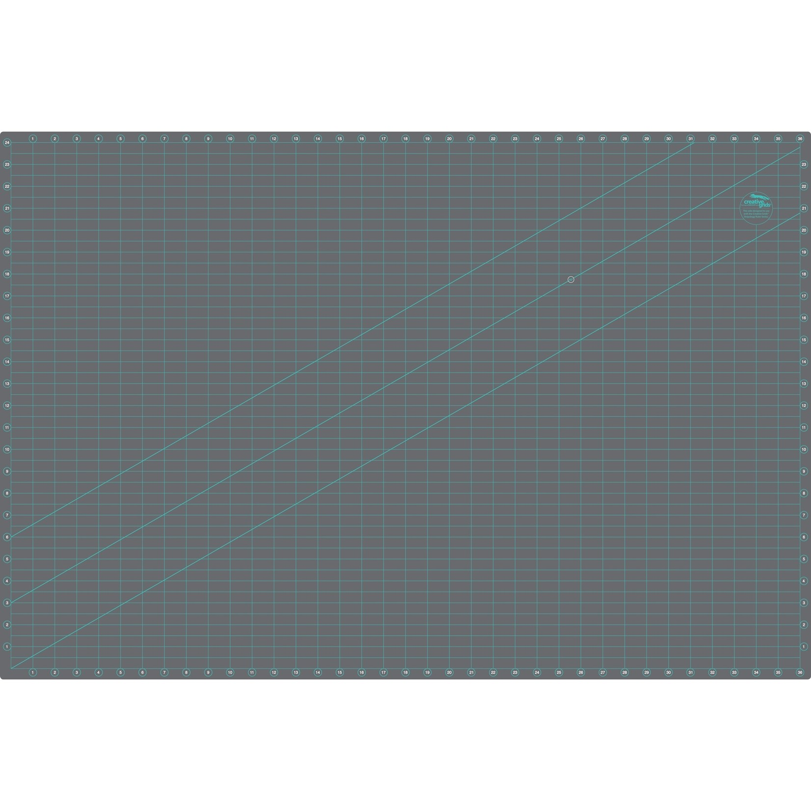 """Creative Grids Creative Grids Cutting Mat Double-Sided 24X36"""" CGRMAT2436"""