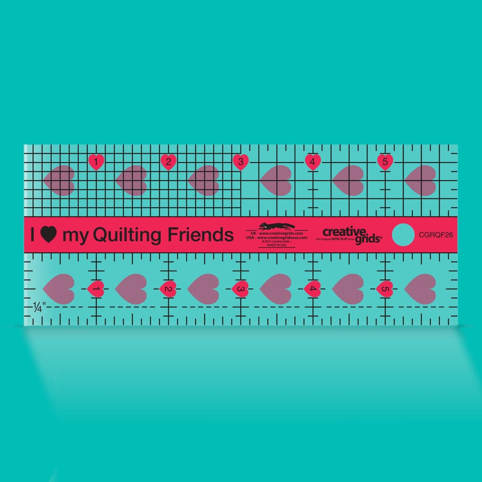 Creative Grids Creative Grids I Love My Quilt Friends Ruler  2 1/2 X  6 CGRQF26
